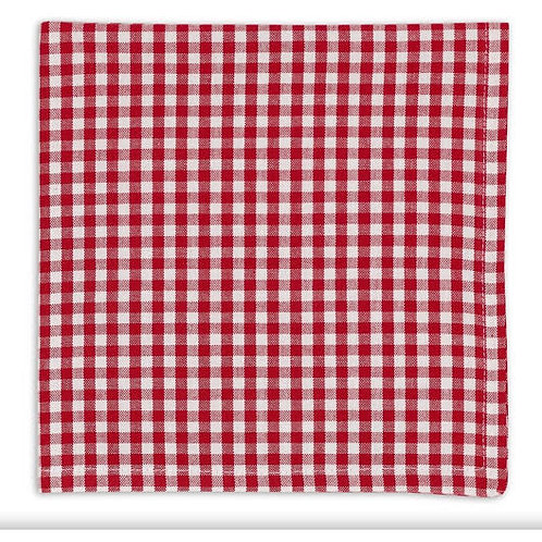 Red Checked Cloth Napkin