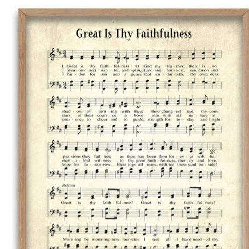 Great Is Thy Faithfulness 8 X 10 Print