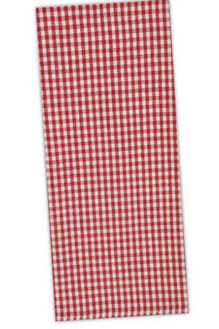 Tango Red Checked Tea Towel