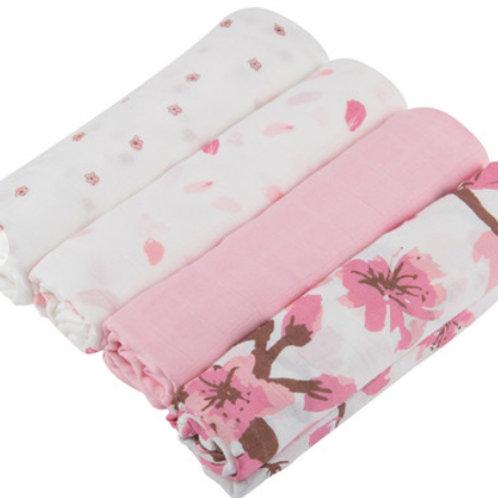 Pink Swaddle Bundle 4Pieces