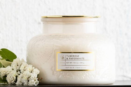 16 oz Tuberose and Paperwhite Scented Candle