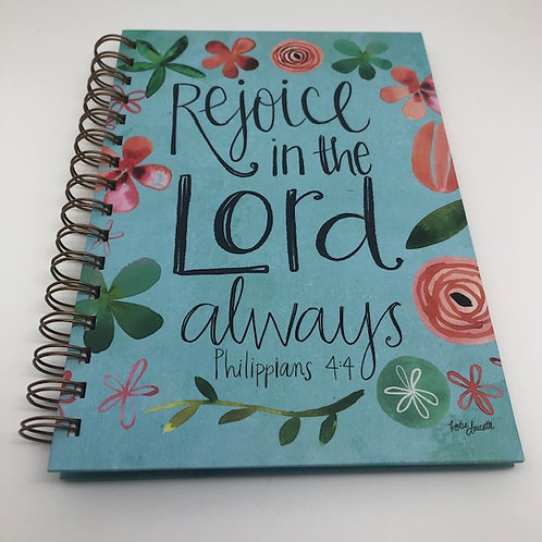 Hard Back Journal - Rejoice in the Lord