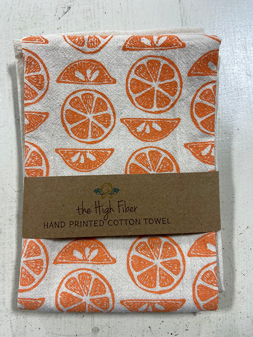 Orange Cotton Tea Towel