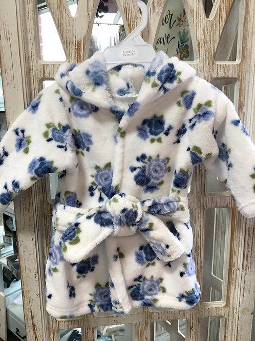 Blue Rose baby robe