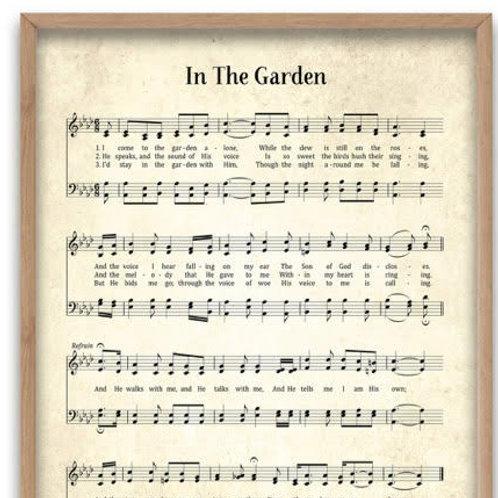 In the Garden 8 X 10 Print