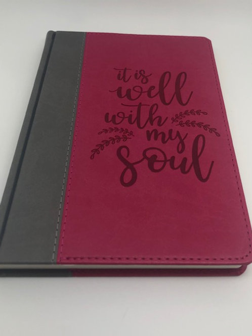 Faux Leather Journal - It is well