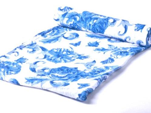Blue Floral Swaddle