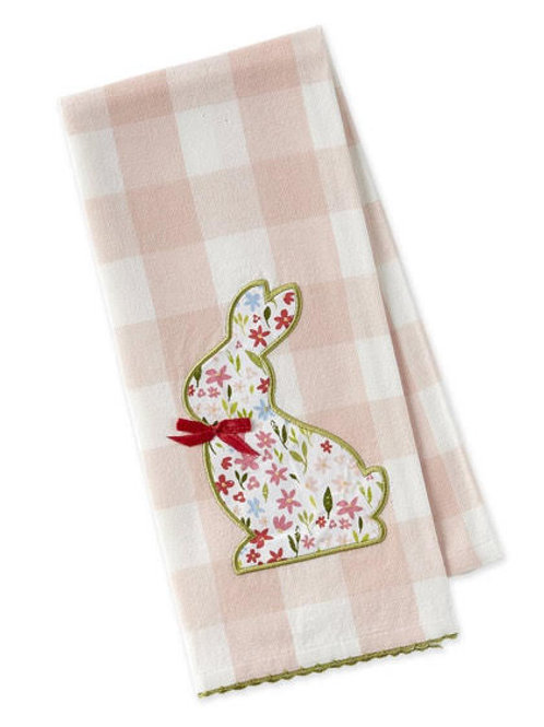 Sweet Flower Bunny Embellishment Tea Towel