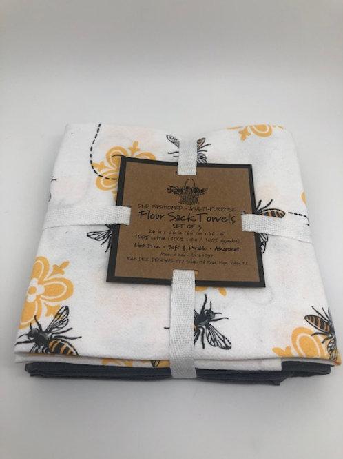 Flower Sack Towels set of 3