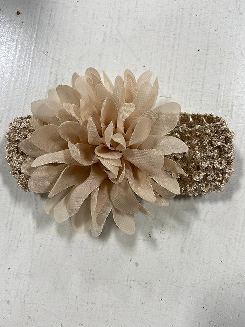 Tan Baby Flower Headband