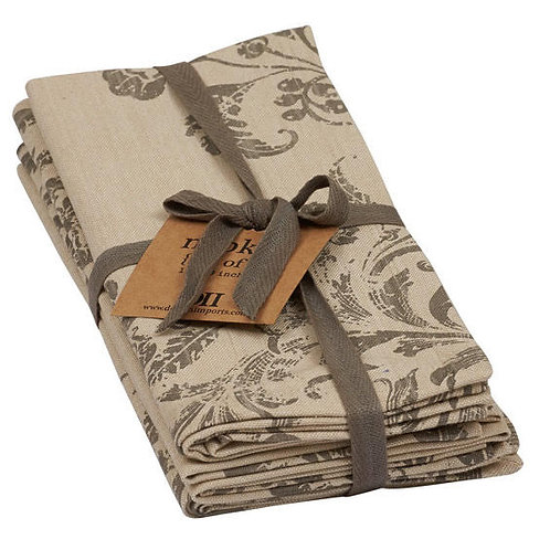 Set of 4 French Scroll Napkins