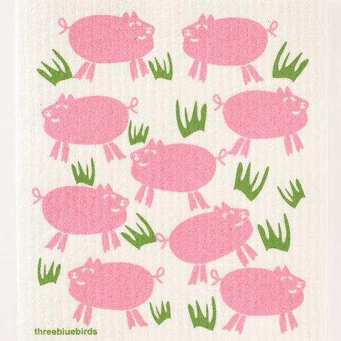 Piggy Sweedish Dishcloth