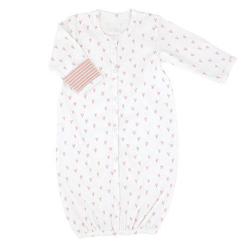 Pink Heart Newborn Gown