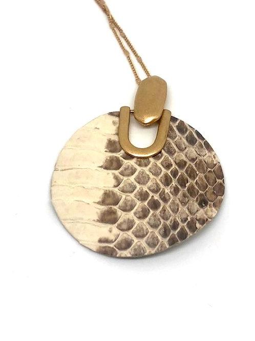Neutral Animal Skin Necklace