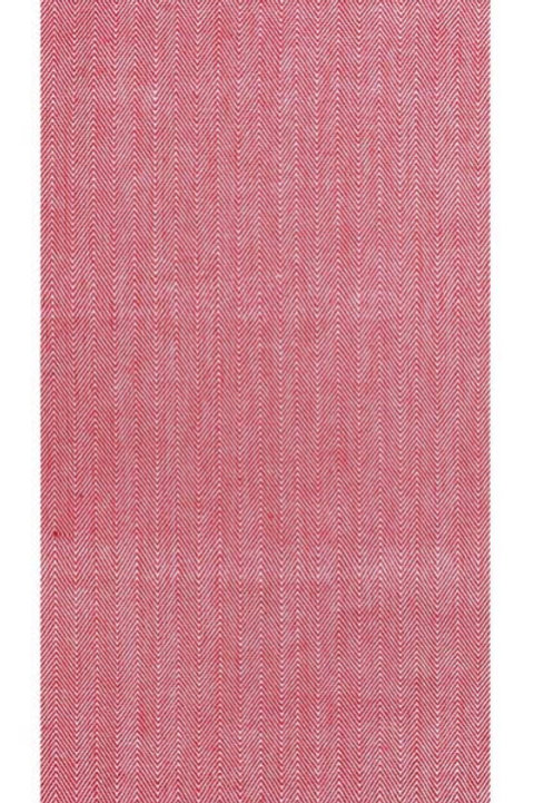 Herringbone Red Tea Towel