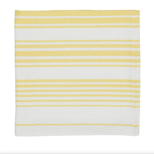 Yellow Striped Cloth Napkins
