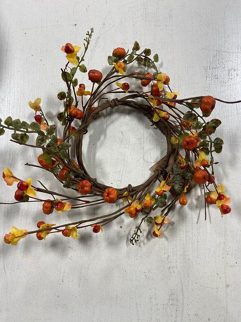Small Berry Pumpkin Wreath