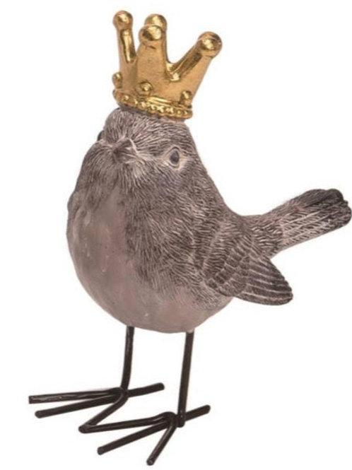 Resin 5 inch Gray Royal Bird