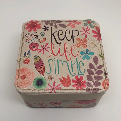 Keep Life Simple Jewlery Box