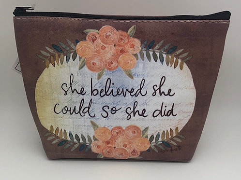 Make up bag - Vinyl - She believed she could