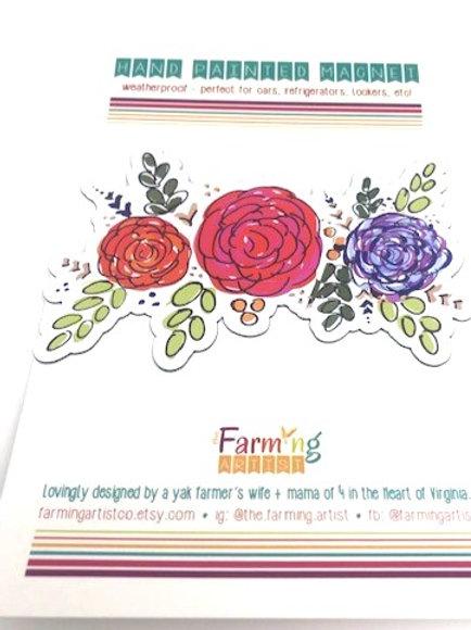 Floral Garland Magnet