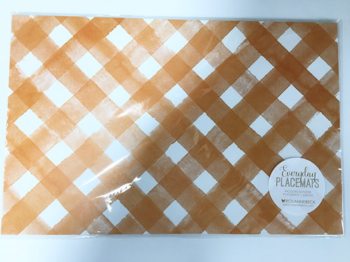 Orange Lattice Placemats 20 pc.
