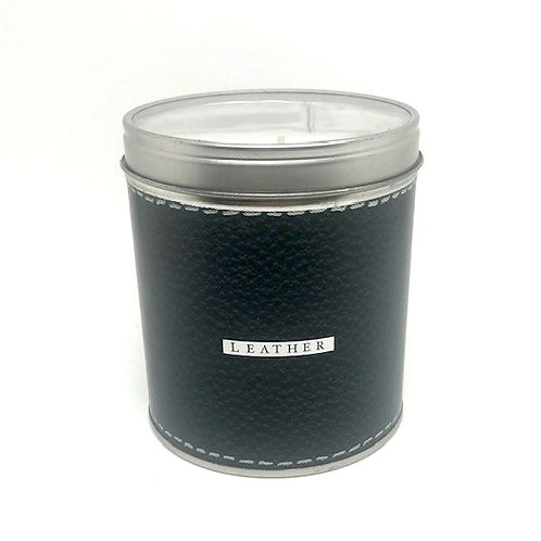 Aunt Sadie's Leather Candle