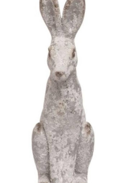 14 inch white Resin Bunny