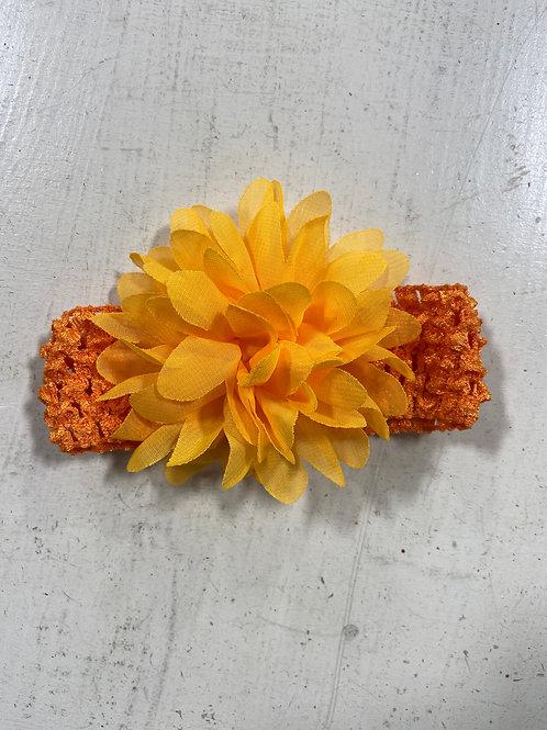 Orange Baby Flower Headband