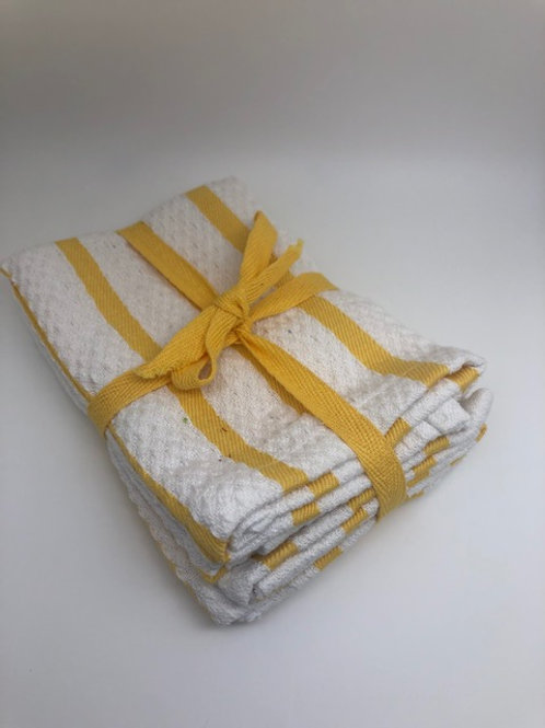 Yellow and White Heavy Weight Kitchen Cloth