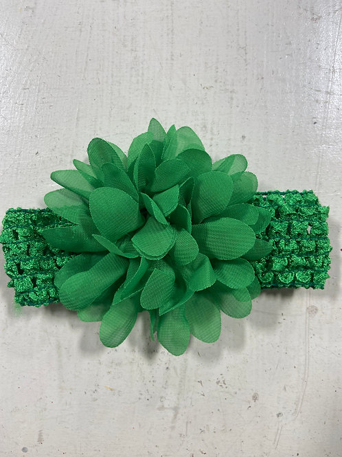Green Baby Flower Headband