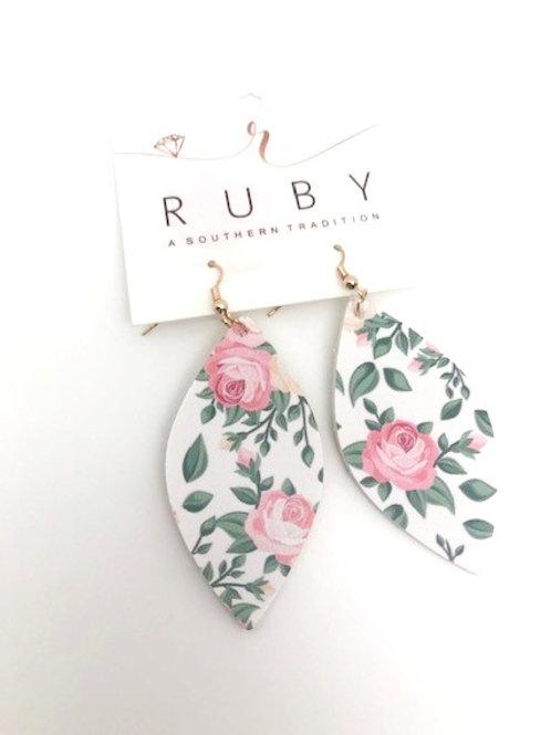 Pink Rose earring