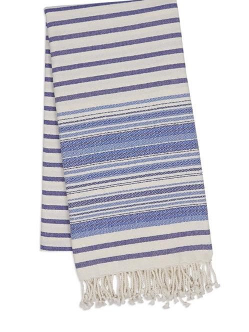 Blue Stripped Throw Blanket