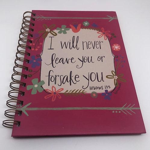 Hard Back Journal - I will never