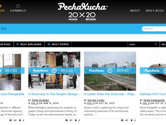 PechaKucha Küresel Sitesinde Sunumlar Yayında