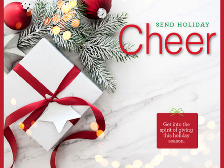 Get into the spirit of giving this holiday season.
