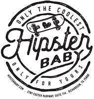 Hipster Baby Complete Skateboard Logo by