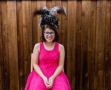 Girl's pet chicken