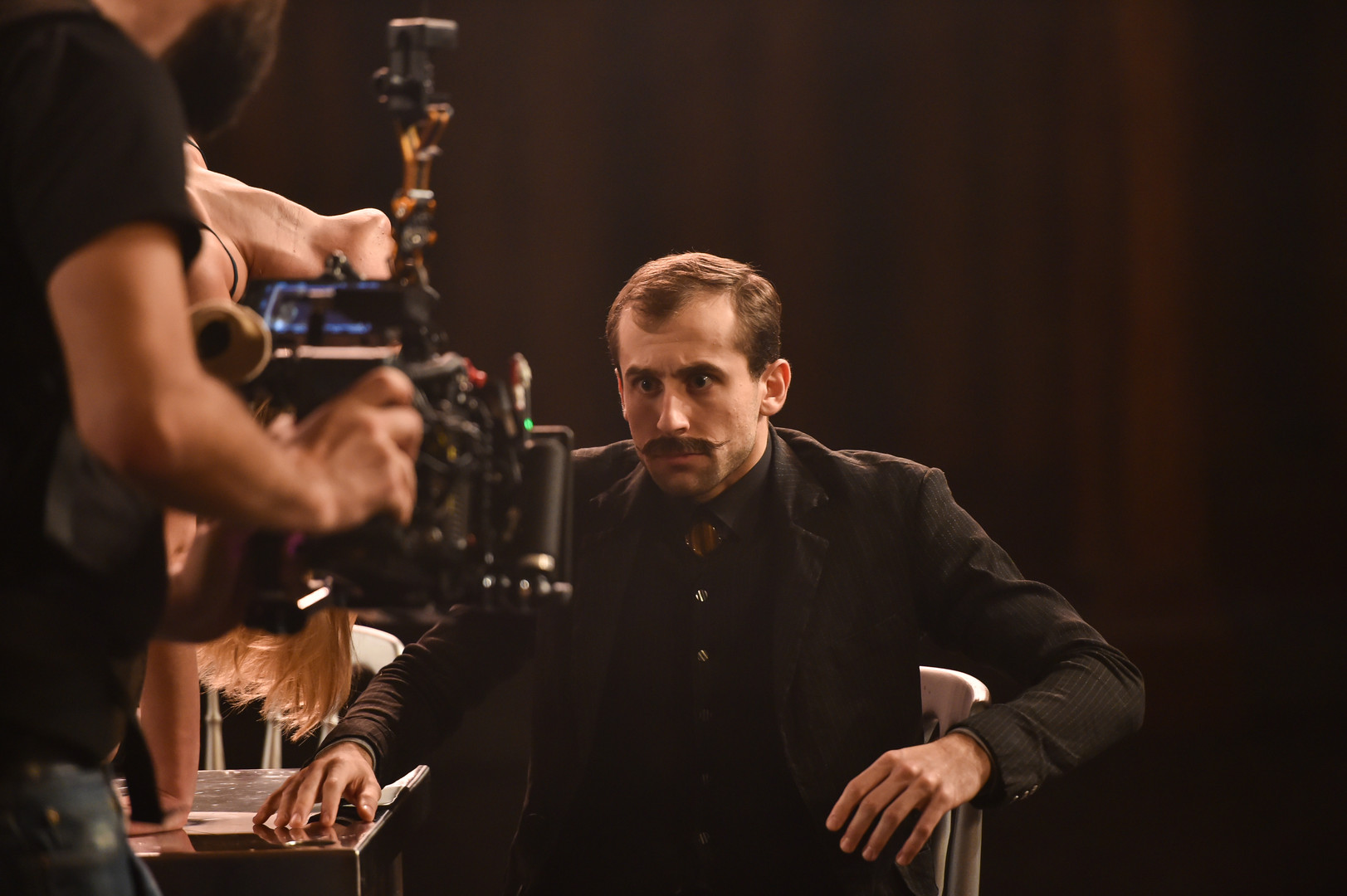 Bruno Micchiardi on set of Tremble