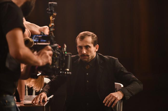 Bruno Micchiardi on set of Tremble
