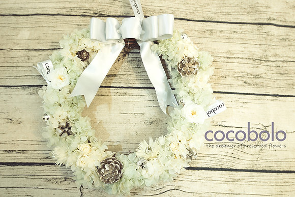 SILVER LININGS WINTER WREATH│冬季花圈