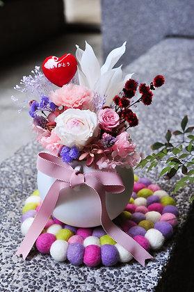 暖暖│康乃馨圓形花禮 Happy Mother's Day