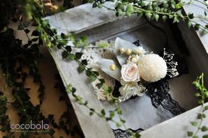 cocobolo 作品分享│Classical White Wrist Corsage古典恆星手腕花