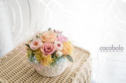 20160625 粉色系圓形客製白色花禮包裝-7