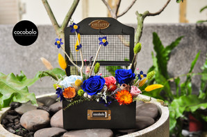 cocobolo flower original design│Royal Blue Garden 復古工藝盒恆星花禮