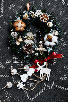 Rudolph Christmas Wreath│魯道夫的綠光森林 花圈