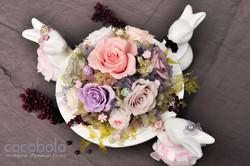 20160528 兔子圓形桌花-2