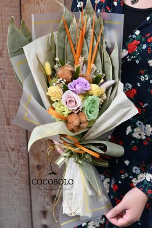 端午粽葉花束