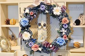 cocobolo 作品分享 冬季恆星花圈│2016 Winter Wreath :Silver Linings