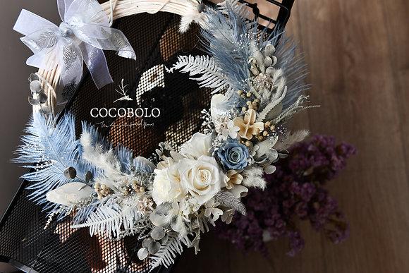 Silver Lining Wreath │冬季銀邊花圈
